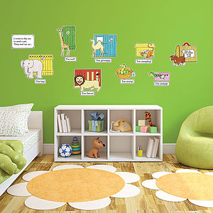 Dear Zoo Storytime Childrens Wall Stickers