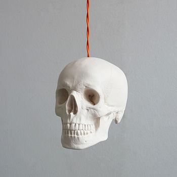 Skull Pendant Light - White
