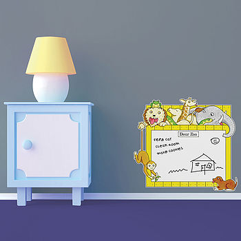 Dear Zoo Whiteboard Childrens Wall Sticker