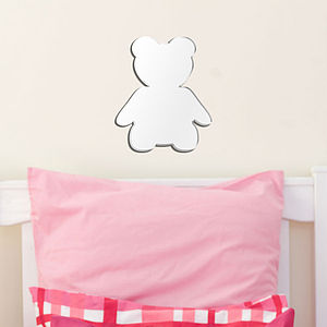 Teddy Nursery Wall Art Mirror - mirrors