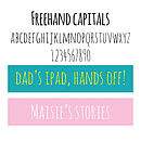 Freehand Capitals Font