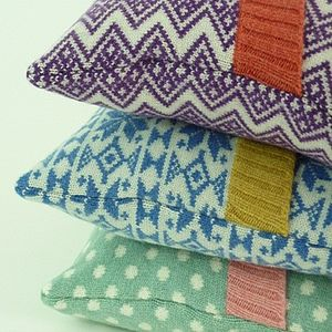Lambswool Knitted Cushions