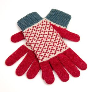 Knitted Lambswool Gloves - for keeping cosy