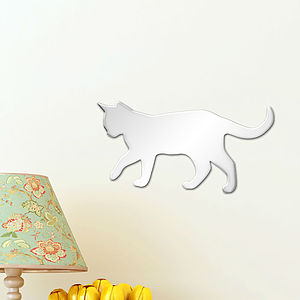 Cat Shatterproof Mirror Nursery Wall Art