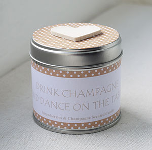 Drink Champagne And Dance On The Table Candle - home accessories