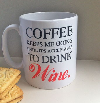 Acceptable To Drink Wine Mug