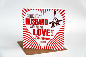 Husband Christmas Card - cards