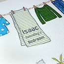 Personalised Boy's Bedroom Print