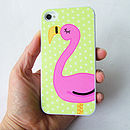 Flamingo iPhone Cover Can Be Personalised