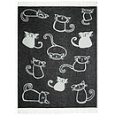 Cats Design Wool Throw