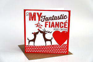 Fiance Christmas Card - cards & wrap