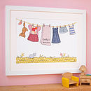 Personalised Little Girl's Framed Print