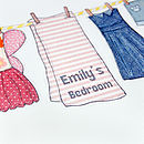 Girl's Clothes Washing Line Print