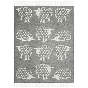 Grey Sheep Wool Throw - baby care