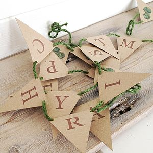 'Happy Christmas' Sprout Mini Bunting Kit - garlands & bunting