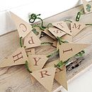 'Happy Christmas' Sprout Mini Bunting Kit