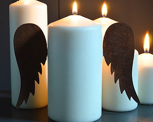 Vintage Angel Wings - candles & candle holders