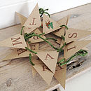 'Happy Christmas' Retro Deer Mini Bunting Kit