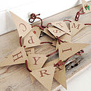 'Retro Festive Deer' Mini Bunting with St. Nick Red Rustic Twine