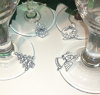 Christmas Wine Glass Charms