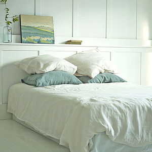 Linen Washed Duvet Cover, Warm White - home wedding gifts