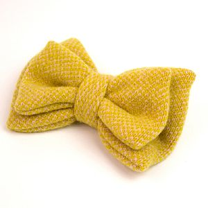 Luxury Lambswool Double Bow Brooch