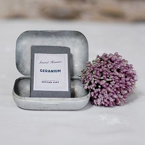 Geranium Artisan Soap - bathroom