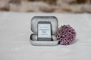 Eucalyptus And Poppy Seed Artisan Soap - wedding favours