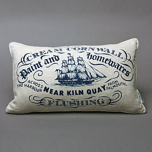 Hand Printed Kiln Quay Cushion - cushions