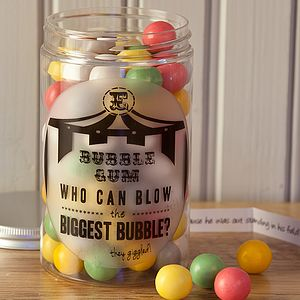 Retro Sweets Jar Bubble Gum - food & drink gifts