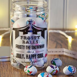 Retro Chocolates Jar Anti Xmas Frosty Balls - christmas parties & entertaining