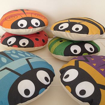 Childrens Round Bug Cushions