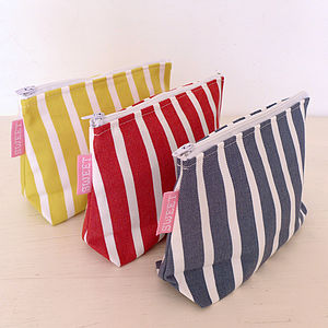 Breton Cosmetic Bag - make-up & wash bags