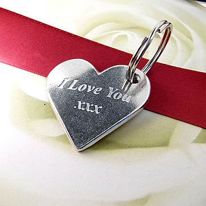'Love You ' Heart Keyring - gift ideas