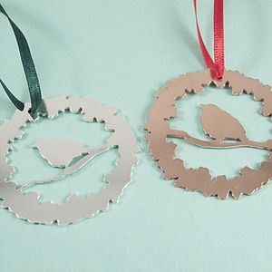Silver Or Copper Christmas Ornament