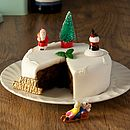 Christmas Vintage Style Cake Decorations (Set Of Six)
