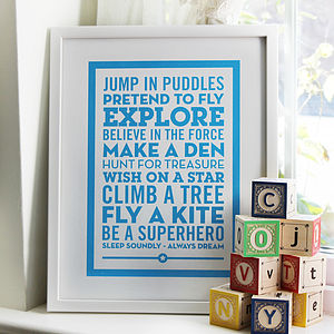 'Be A Superhero' New Baby Poster - gifts for babies