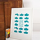 'Every Cloud Has Silver Lining' Screen Print