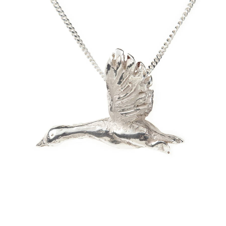 By Emily Snow Goose Necklace Lwge6N