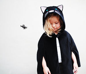 Cat Cape Kids Costume - pretend play & dressing up