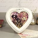 Antique Cream Heart Photo Frame