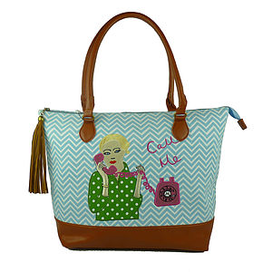 Call Me Day Bag And Free Cosmetic Bag - bags & purses