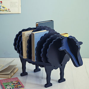 Baa Baa Book Shelf, Black - bookends