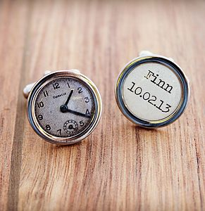 Personalised Special Time Cufflinks - cufflinks