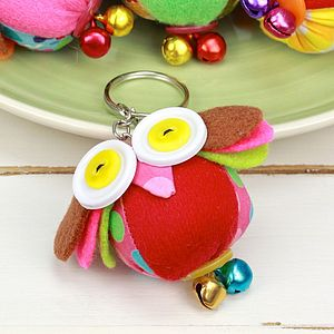 Button Eyed Keyring - keyrings