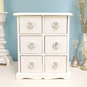 Antique Cream Mini Cabinet - furniture