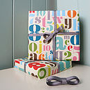 Fancy Letters & Numbers Gift Wrap