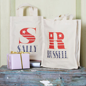 Personalised Vintage Font Party Bag - wedding favours