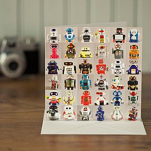 Collections Greeting Card Robots