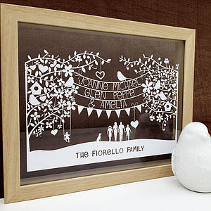 Personalised Family/Couples Papercut - posters & prints